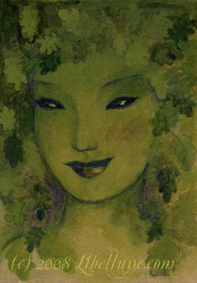 Green Woman ou la Femme Verte, par Lune