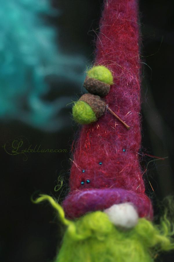 Gnome en laine feutrée