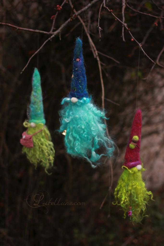 Gnomes en laine feutrée