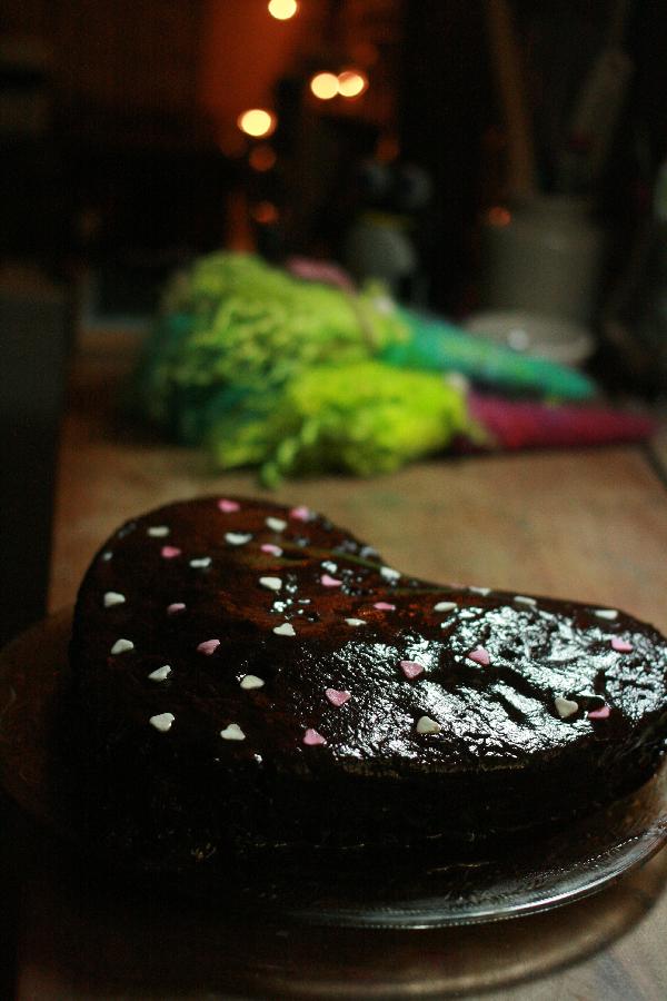 Gâteau chocolat et crème de marron