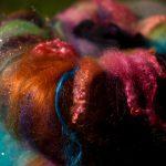 """nappe de fibres sur le thème """"Halloween"""""""