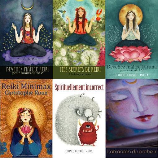 Une promo sur les livres Reiki et spiritualité de Christophe